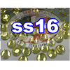 Rhinestones | SS16/4.0mm | Hotfix Rhinestone/Citrine |  100 Gross