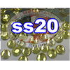 Rhinestones | SS20/5.0mm | Citrine | 25 Gross