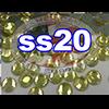 Rhinestones | SS20/5.0mm | Citrine | 25 Gross