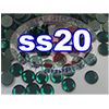 Rhinestones | SS20/5.0mm | Emerald | 100 Gross