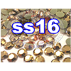 Rhinestones | SS16/4.0mm | GoldHemetite | 25 Gross