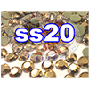 Rhinestones | SS20/5.0mm | GoldHemetite | 25 Gross