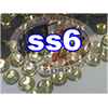 Rhinestones | SS06/2.0mm | Light Topaz | 25 Gross
