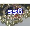Rhinestones   SS06/2.0mm   Light Topaz   250 Gross