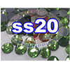 Rhinestones | SS20/5.0mm | Peridot | 25 Gross