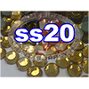 Rhinestones | SS20/5.0mm | Topaz | 50 Gross