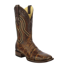 Men's Corral Brown Alligator Wide Sq. Toe