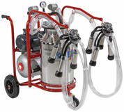 Portable Milking Machine - Dual cluster Single bucket