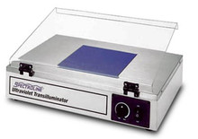 "254nm wavelength transilluminator, (8""x8"") six 15 watt tubes A93-67"