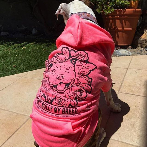 DONT BULLY MY BREED (Roses) Dog Zip-Ups