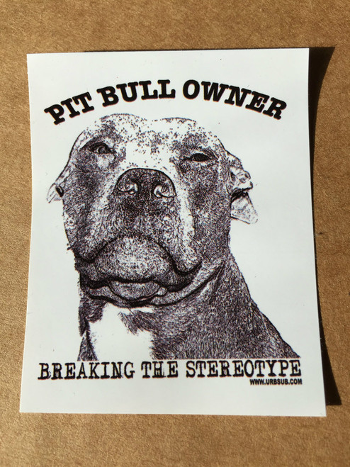 PIT BULL OWNER Stickers