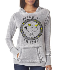 PIT BULLS ARE LOVERS Ladies Vintage Hoodies