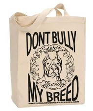DONT BULLY MY BREED Tote with Gusset