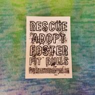 RESCUE, ADOPT, FOSTER Stickers