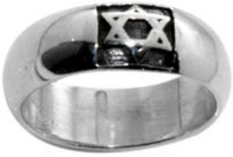 STERLING SILVER LARGE JEWISH STAR OF DAVID RING STYLE 489