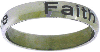 "STAINLESS STEEL ""Faith, Hope, Love"" 1 Corinthians 13:13 RING STYLE 377"