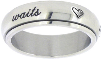 True Love Waits purity abstinence spin ring in stainless steel