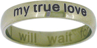 "STAINLESS STEEL ""I will wait for my true love"" RING STYLE 372"