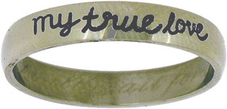 "STAINLESS STEEL ""I will wait for my true love"" PURITY RING STYLE 371"