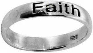 "STERLING SILVER OXIDIZED ""Faith"" RING STYLE 801"