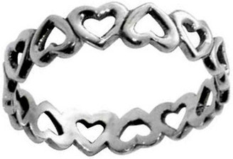 RING STYLE 406 STERLING SILVER CUTOUT HEARTS RING