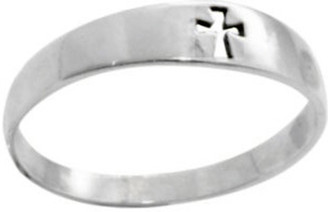 STERLING SILVER CUTOUT MALTA CROSS CHRISTIAN RING STYLE 422