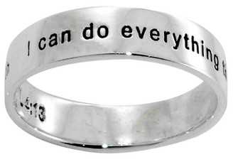 "STERLING SILVER ""PHIL 4:13 I can do everything through him who gives me strength"" CHRISTIAN RING STYLE 495"