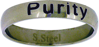 STAINLESS STEEL PURITY CHRISTIAN RING STYLE 376