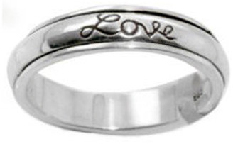 "STERLING SILVER ""Faith, Hope, Love"" CHRISTIAN BIBLE VERSE SPIN RING STYLE 482"
