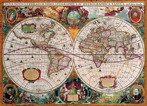 Antique world map jigsaw puzzle antique world map 1000 piece puzzle gumiabroncs Choice Image