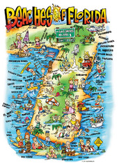A fun illustration of the Beaches of Florida!