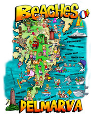 A fun illustration of the Beaches of Delmarva!