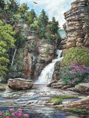 A beautiful illustration of Linville Falls!