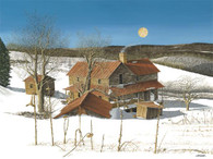 A beautiful illustration of 'Ray's Moon' wintery home!