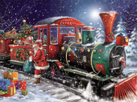 Santa trades in his sleigh for the Christmas Train