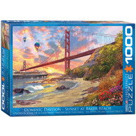 Artist Dominic Davison helps us to relax and enjoy Bakers Beach and the beautiful view of the Golden Gate Bridge from the pacific coastline just northwest of San Francisco.