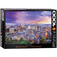 Celebrate La Belle Province with this beautiful skyline featuring well known landmarks from Montreal.