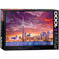 Celebrate Canada with this beautiful skyline featuring well known landmarks from Toronto.