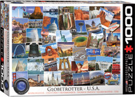 Globetrotter - USA is a collage of iconic American landscapes