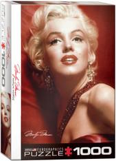 Marilyn Monroe - Red Portrait Jigsaw Puzzle  EuroGraphics Marilyn by Slam Shaw
