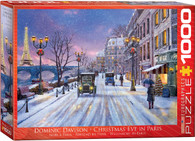 Dominic Davison - Christmas Eve in Paris 1000-Piece Jigsaw Puzzle