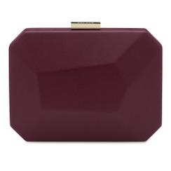 Adele - Large Shiraz Facetted Pod Clutch Handbag by Olga Berg