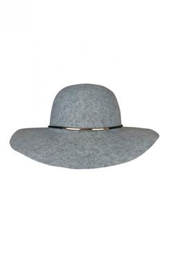 London - Grey Wool Floppy Hat by Morgan & Taylor
