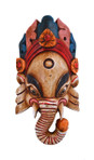 Wooden Ganesh Mask ― White