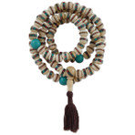 White Bone Inlay Mala