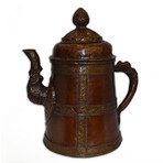 Nepalese Copper Tall Tea Kettle