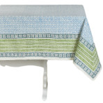 Delight / Sea Handblock Print Tablecloth
