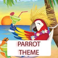 Parrot Theme Gifts & Tropical Beach Decorations