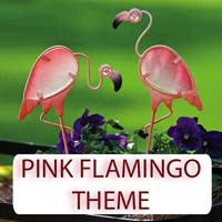 Pink Flamingo Theme Gifts & Tropical Beach Decorations