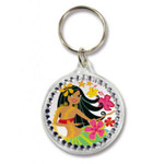 Island Hula Rhinestone Acrylic Keychain 08150000